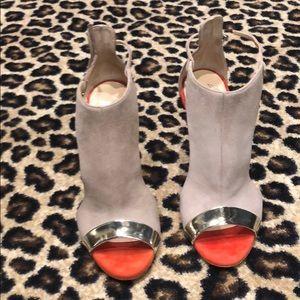 70a713614 Giuseppe Zanotti Suede Color Block Heels